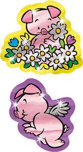 Perfect Pigs Foil Bright School Teacher Reward Stickers - 34 Shiny Stickers