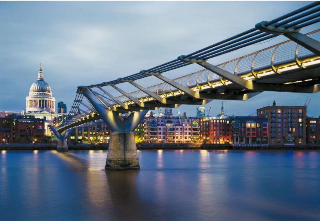 Fototapete 8-924 Millennium Bridge 368 x 245 cm - keine Lieferkosten - 321meins