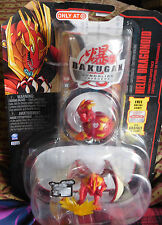 BAKUGAN New Vestroia Red Pyrus HELIX DRAGONOID Super Character pack SEALED 2010