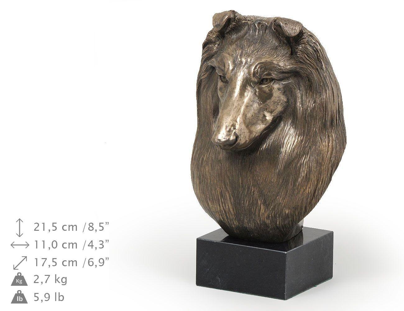Shetland Sheepdog - dog figurine on the marble base, high quality Art Dog