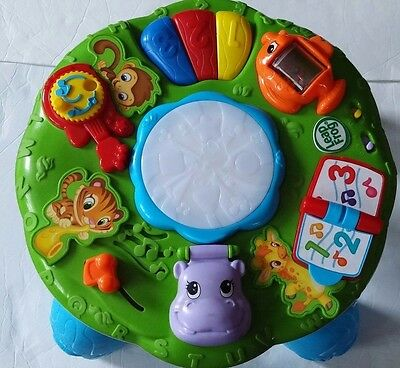 LeapFrog Animal Adventure Learning Blue Musical Activity Table with Legs