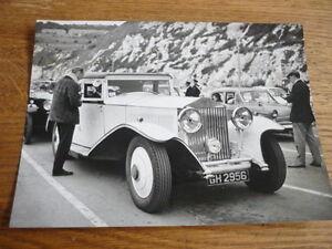 1930 Rolls Royce Phantom Historique De Presse Ou Publicité Photo 1963-afficher Le Titre D'origine Chaud Et Coupe-Vent