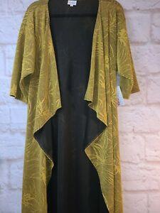 Nuovo-con-etichette-lularoe-Shirley-piccoli-Kimono-Solido-Senape-BELLISSIMO
