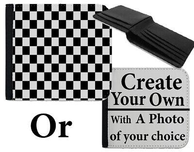 100% Vero Black & White A Scacchi Quadrati Portafoglio A Scacchi Modello Design Retrò Borsa Bag B723- Fabbricazione Abile