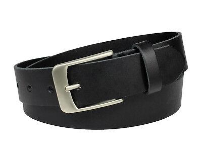 GüNstig Einkaufen Büffel Ledergürtel 3,5 Cm Herren Damen Belt Echt Voll Leder Gürtel Schwarz Nr.03