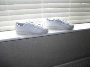 Para hombres Cuero Blanco/adolescente Adidas Superstar Zapatillas ...