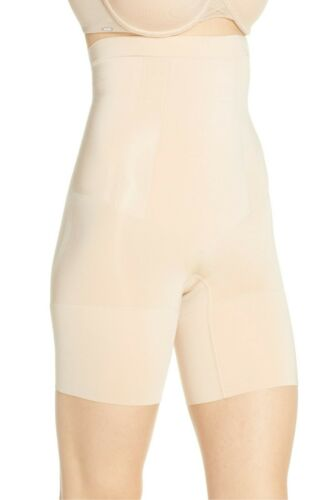 6-8 SPANX SS1915 OnCore High-Waisted Mid-Thigh Shaper Bodysuit NUDE Medium M