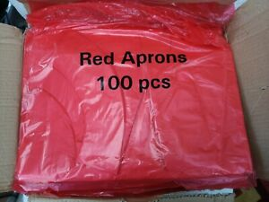 Red Flat Pack Disposable Aprons (Damaged Box) - Case of 1000