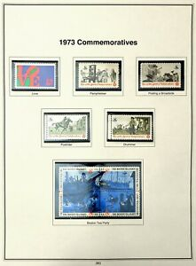 US Postage Stamps - 1973-74 Complete Set of General Issue & Commemoratives; MNH