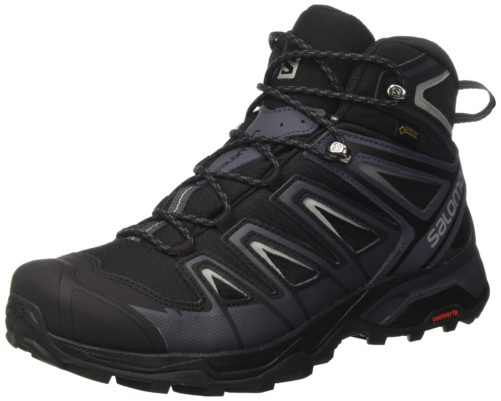 Salomon Men's X Ultra 3 Mid GTX Hiking Boot, Black, 12 M US