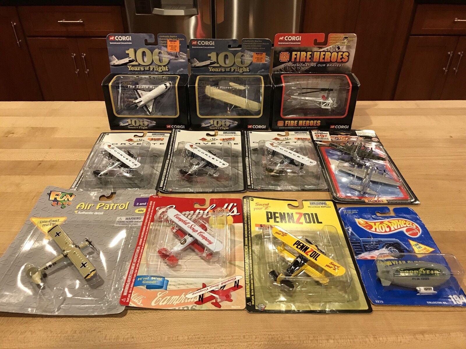 11 Jouet Avions COLLECTION Neuf sous emballage CORGI Gearbox Hot Wheels Fun Club rouge Box photos