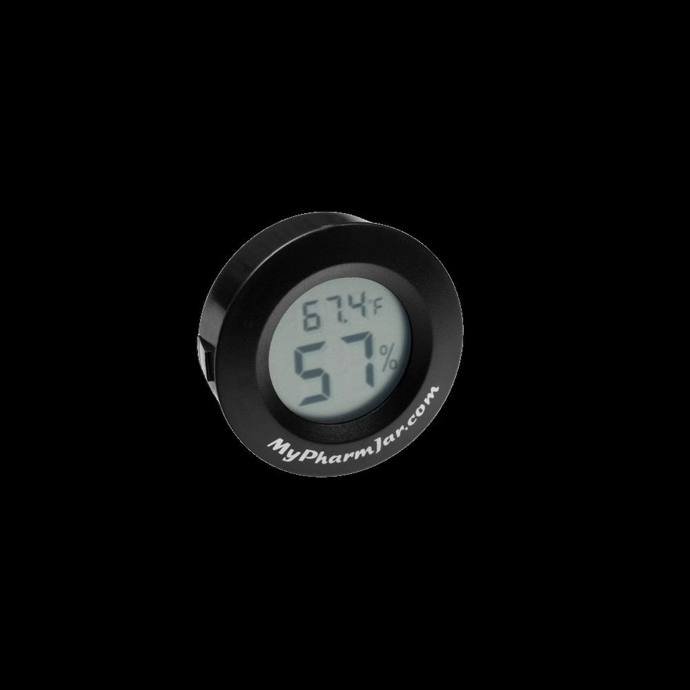 MyPharmJar Digital LCD Thermometer Fahrenheit Hygrometer Indoor Temp Humidity