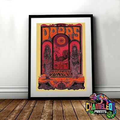 The Doors Concert Vintage Poster Print In A3 A4