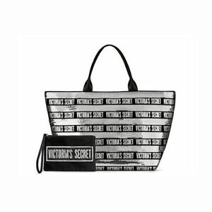 7bd316b04e Image is loading VICTORIAS-SECRET-SEQUIN-BLING-WEEKENDER-TOTE-WITH-POUCH-