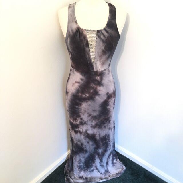Urban Outfitters Maxi Dress Medium Slinky Knit Staring At Stars Gray