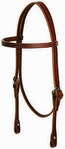 WEAVER-LEATHER-HEADSTALL-BRIDLE-HORSE-WESTERN-WORKING