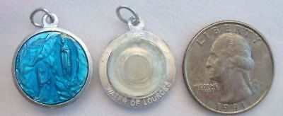 Catholic Medal Our Lady Lourdes Water