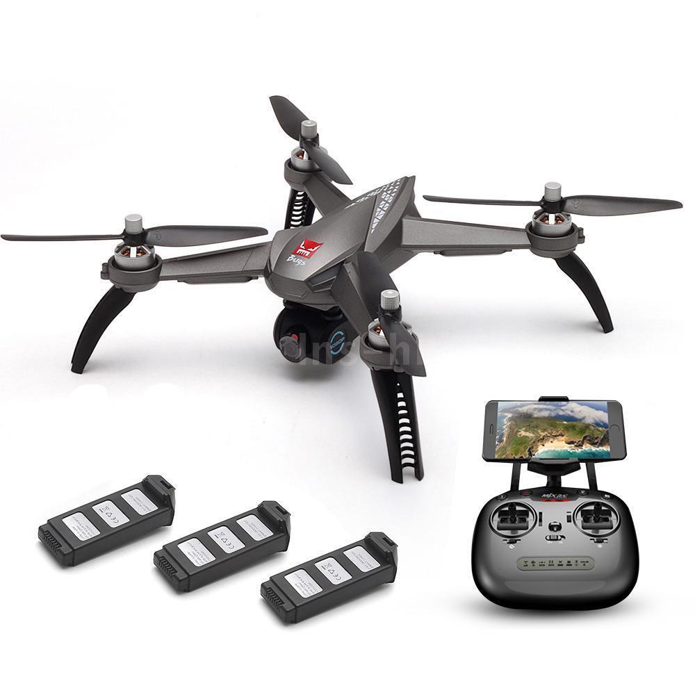 MJX Bugs 5W 1080P 5G Wifi FPV Camera RC Drone Aereo con 3 Batterie Grigio L1B8