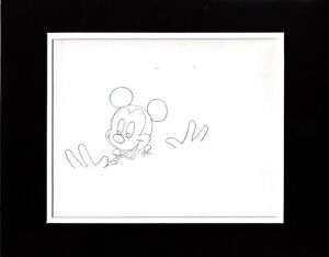Mickey Mouse 1980s Production Animation Cel Drawing Disney DVD Commercial 221d