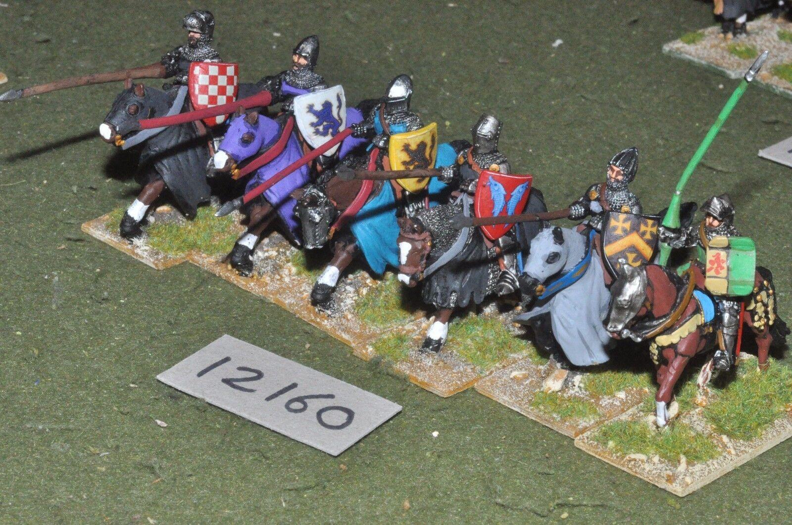 25mm renaissance   generic - plastic horses 6 cavalry - cav (12160)