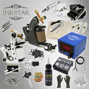 Details about Complete Tattoo Kit Professional Inkstar 2 Machine JOURNEYMAN Set GUN Black Ink