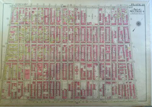 1907 PARK SLOPE WINDSOR TERRACE BROOKLYN NY REPRODUCTION BROMLEY ATLAS MAP 22X32