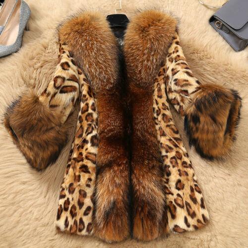 da donna con stile Cappotto Sexy Size lungo stampa C55 Plus leopardata medio BqOC5w5nxE