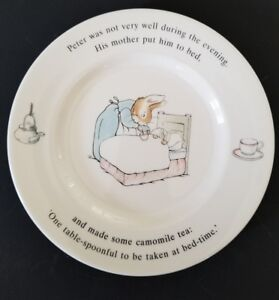 Wedgwood-Peter-Rabbit-Frederick-Warne-6-75-034-Plate-Made-in-England-1993
