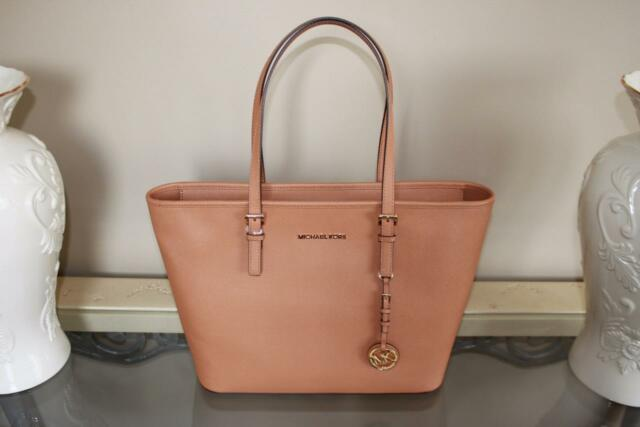 6da2741861a Michael Kors Jet Set Travel NS Tote Saffiano Leather Handbag Purse Acorn