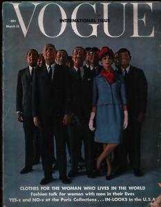 Vogue international Fashion Magazine March 15 1962 Claudia Cardinale 022321ame
