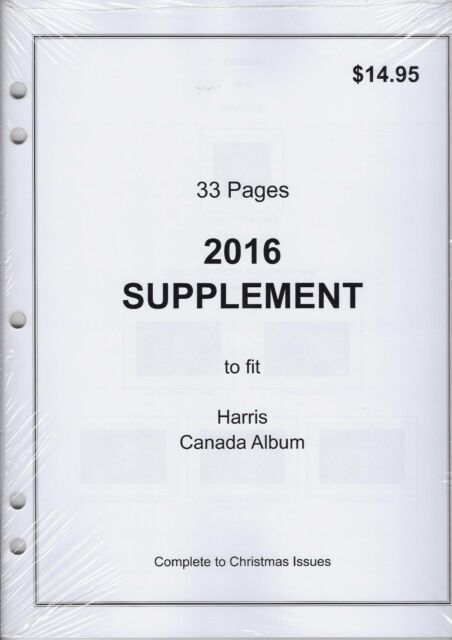 2016 Supplement to fit Harris Canada Album - 33 Pages! | eBay
