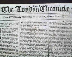 1777-Revolutionary-War-Newspaper-America-Colonies-JEWISH-Jews-re-Jew-Bill