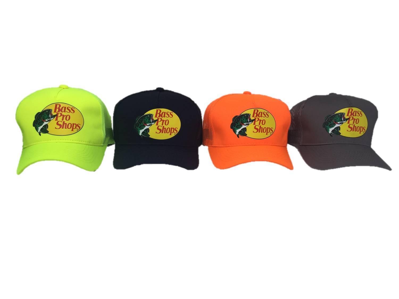 bbdbc2311 Bass Pro Shops Mesh Adjustable Snapback Trucker Baseball/fishing Hat Cap  One Size Black