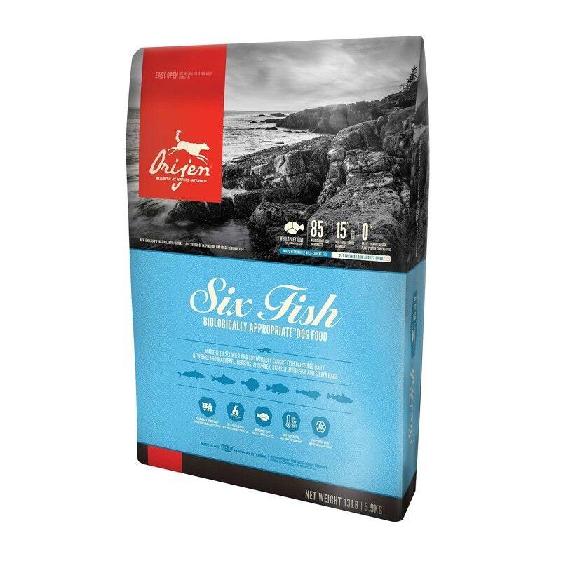 2 sac   Orijen Six Fish Adult Dog 11,4 kg Al Pesce Per Cane Adulto Tutte