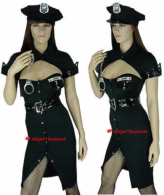 Sergeant Sexy Army Cop Policewoman Police Woman Fancy Dress Costume - M 8-10-12