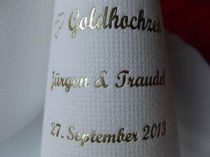 Details Zu 50 Mit Namen Bedruckte Kaffee Servietten Silberne Goldene Diamantene Hochzeit