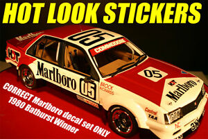 1:18 Brock Missing Vinyl Decals 1980 Sandown 400 Winner Holden VC Commodore HDT Toys & Hobbies