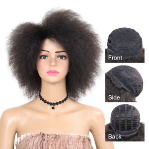 Details about Short Afro Wigs Natural Kinky