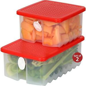 Fresh-Fruit-and-Vegetable-Food-Storage-Container-w-Air-Vented-Lids-Freezer-Safe