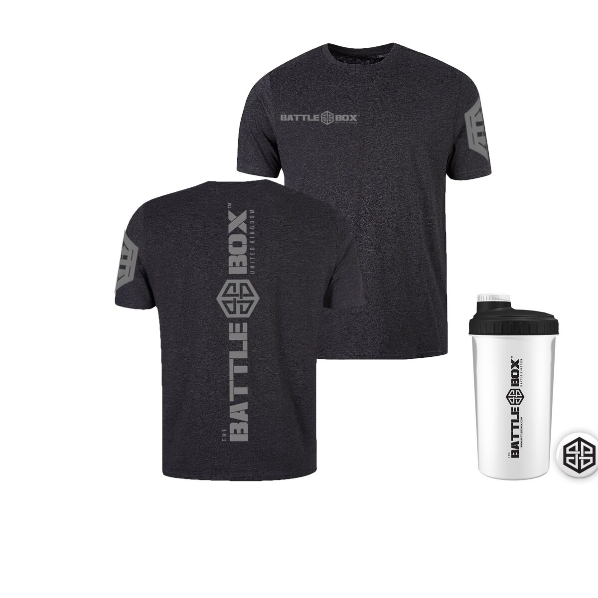 Battle Box Limited Edition T-Shirt + Shaker X-Fit Function Training WOD Gear