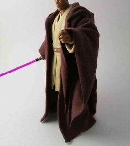 Custom-Brown-Jedi-Robe-for-Mace-Windu-Star-Wars-6-inch-Black-Series-NO-FIGURE