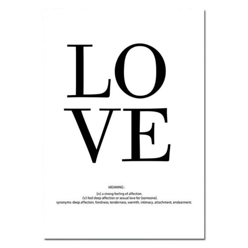 Love Quote Canvas Poster Pink Feather Abstract Wall Art Print Nordic Picture