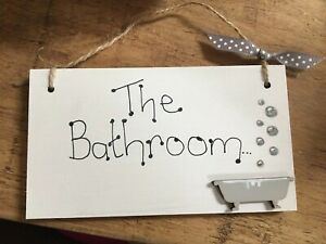 039-BATHROOM-039-Shabby-Chic-Door-Sign-Plaque-Sign-for-Toilet-or-Bathroom-The-Loo