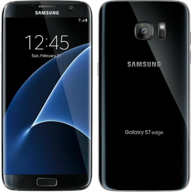 Samsung Galaxy S7 Edge 32GB GSM Unlocked - Black Onyx Android G935 32 S 7  New