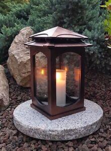 ** Grablaterne /& Sockel Grablampe Lampe Grableuchte Grablicht Grabschmuck Kerze