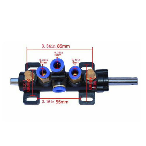Tire Changer Five-Way Air Valve Pneumatic Valve Switch With Metal Silencer 1SET