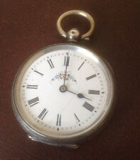 Vintage Swiss Made 800 Silver Pocket Watch