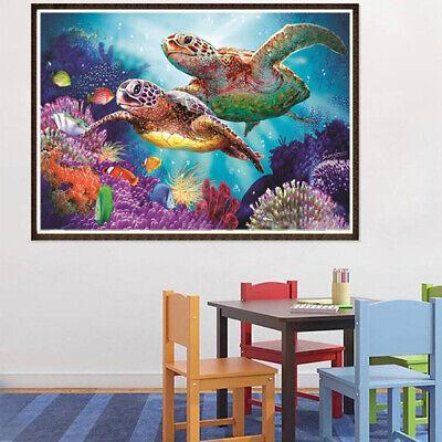 Full DIY 5D Diamond Painting Sea Turtle Cross Stitch Diamond Embroidery Pat E3P2