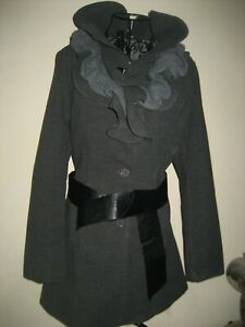 A-NEW-WOMENS-STELLA-MORGAN-GREY-COAT-SIZE-MEDIUM-P-P-APPROX-18-IN-L-30