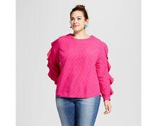 cc3488d9211 item 4 NEW Women s Plus Size Ruffle Sleeve Blouse - Ava   Viv Pink Print 4X  -NEW Women s Plus Size Ruffle Sleeve Blouse - Ava   Viv Pink Print 4X
